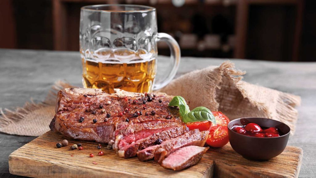 Fleisch und Bier – das rat' ich dir!